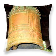 Japanese Bell Throw Pillow