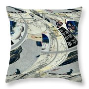 Japanese Bold Abstract Throw Pillow