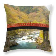 Japanese Bridge Throw Pillow