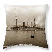 Japanese Cruiser Izumo In Monterey Bay December 1913 Throw Pillow