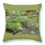 Japanese Elm Throw Pillow