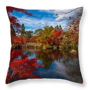 Japanese Foliage Throw Pillow