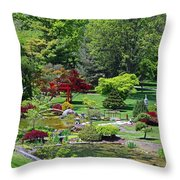 Japanese Garden I Throw Pillow
