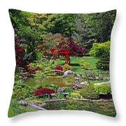 Japanese Garden II Throw Pillow