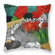 Japanese Garden Norfolk Botanical Garden 201820 Throw Pillow
