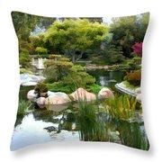 Japanese Garden Panorama 2 Throw Pillow