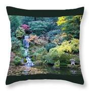 Zen Japanese Garden Throw Pillow