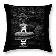 Japanese Garden Reflection Throw Pillow