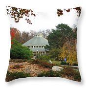 Japanese Garden Roger Williams Park Throw Pillow