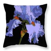 Japanese Iris-blue Beauty Throw Pillow