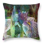 Japanese Iris Tall 2694 Idp_4 Throw Pillow
