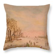 Japanese Light In Remembrance Of Aert Van Der Neer Throw Pillow