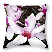 Japanese Magnolia Throw Pillow