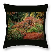 Japanese Maple At The Japanese Gardens Portland Throw Pillow