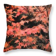 Japanese Maple - Nature Art Throw Pillow