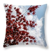 Japanese Maple Red Lace - Vertical Up Right Throw Pillow