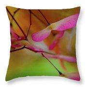 Japanese Maple Seedlings Throw Pillow