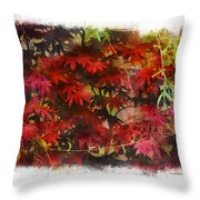 Japanese Maple Under The Willow Throw Pillow
