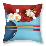 Japanese Oriental Place Setting Throw Pillow