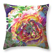Japanese  Peony Throw Pillow