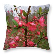 Japanese Quince Throw Pillow