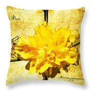 Japanese Rose  Throw Pillow