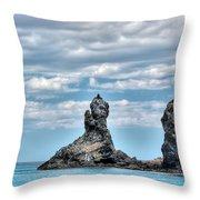 Japanese Sea Throw Pillow