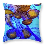Japanese Sea Nettles Throw Pillow