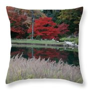 Japanese Serenity Throw Pillow