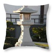 Japanese Stone Pagoda Throw Pillow