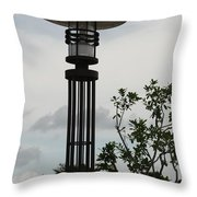 Japanese Street Lamp Throw Pillow