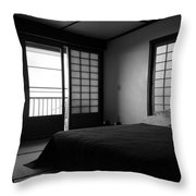 Japanese Style Room At Manago Hotel Throw Pillow