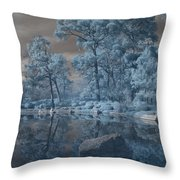 Japanese Tea Garden Infrared Center Throw Pillow