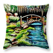 Japanese Tea Gardens Throw Pillow
