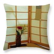 Japanese Tea House Throw Pillow