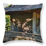Japanese Teahouse Throw Pillow
