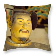 Japanese Warrior Throw Pillow