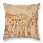 Japanese Whispers In Respect Of Lowry Throw Pillow