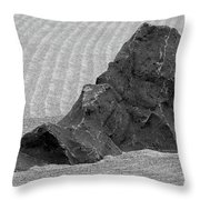 Japanese Zen Garden Throw Pillow