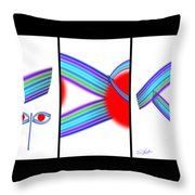 Japaneyes Throw Pillow