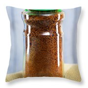 Jar Of Instant Decaf Coffee Throw Pillow