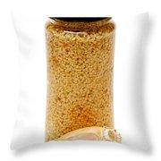 Jar Of Minced Garlic And Clove Throw Pillow