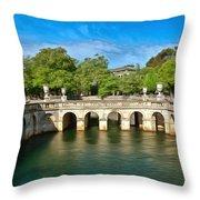 Jardins De La Fontaine Nimes Throw Pillow