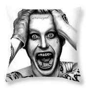 Jared Leto As The Joker Throw Pillow