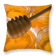 Jarrs Of Honey Throw Pillow by Garry Gay