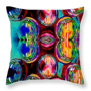 Jars Of Color Throw Pillow