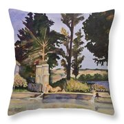 Jas_de_bouffan_after_cezanne Throw Pillow by Don Perino