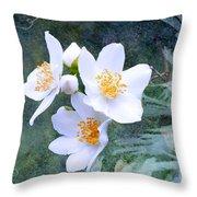 Jasmin Flower Throw Pillow