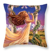 Jasmine - Sensual Pleasure Throw Pillow