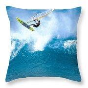 Jason Flies Over A Wave Throw Pillow